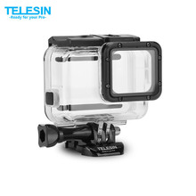 TELESIN 45M Underwater Housing Waterproof Case + Touchable Cover for Gopro Hero 5/ 6 Hero 7 Black Camera Accessories