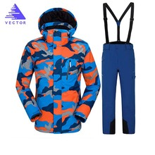 Men Ski Jackets Winter Outdoor Thermal Waterproof Windproof Snowboard Jackets Climbing Male Snow Skiing Sport Clothes 2018 new lover men and women windproof waterproof thermal male snow pants sets skiing and snowboarding ski suit men jackets