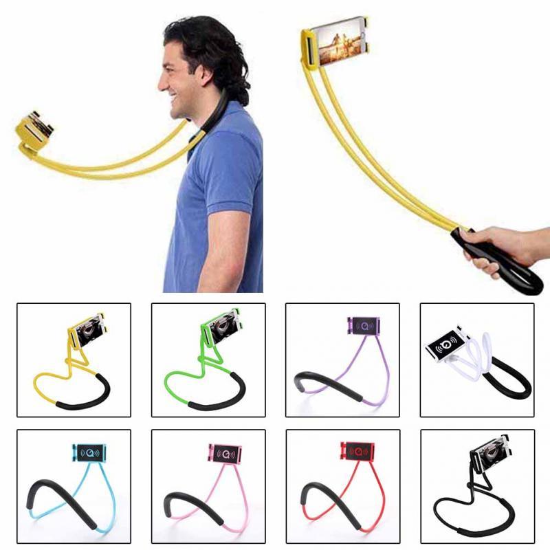 Nouvelle Table de Chevet Dentelle Pendaison Cou Téléphone Stands Collier Support Mobile Support 360 Degrés Titulaire Rotation de Téléphone