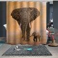 Занавески для душа на заказ  занавески для ванной  перегородки 1 5x1 8 м 1 8x1 8 м 1 8x2 м  слон