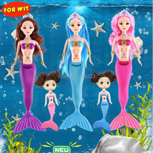 Mermaid Doll with Play Set, Princess Mermaids Tail Change Color in Water, Color-Changed Funny Toys, Girl Children Beautiful Gift
