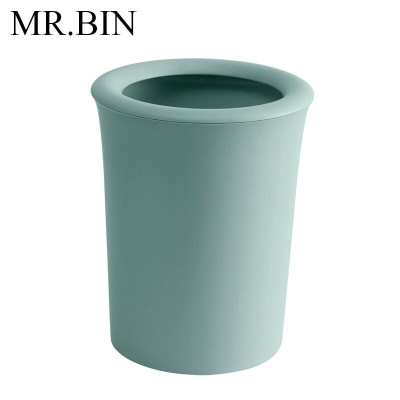 M.. BIN 8L Beignets Nordique Poubelle En Europe Du Nord Moderne Simple Coloré Poubelle Ouvert Top Amovible Pression Anneau Poubelle