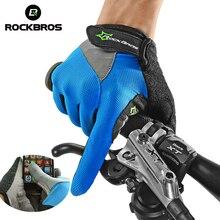 ROCKBROS Закрытые Перчатки Для Горного Велосипеда Сенсорный Экран Велоспортный Полный Палец перчатки для Смартфона Перчатки Мужские Велоперчатки летние Велоперчаток для фитнеса
