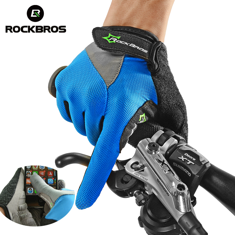 ROCKBROS Cycling Bike Bicycle Touch Screen Non-Slip Breathable Long <font><b>Gloves</b></font> Bike Bicycle Cycle Full Finger Bike <font><b>Smartphone</b></font> <font><b>Gloves</b></font>