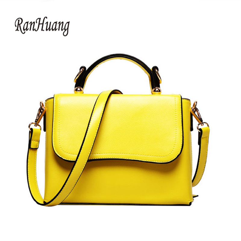 RanHuang Women Casual Handbags Pu Leather Shoulder Bags Ladies Fashion Messenger Bags Functional Bags Bolsas Feminina