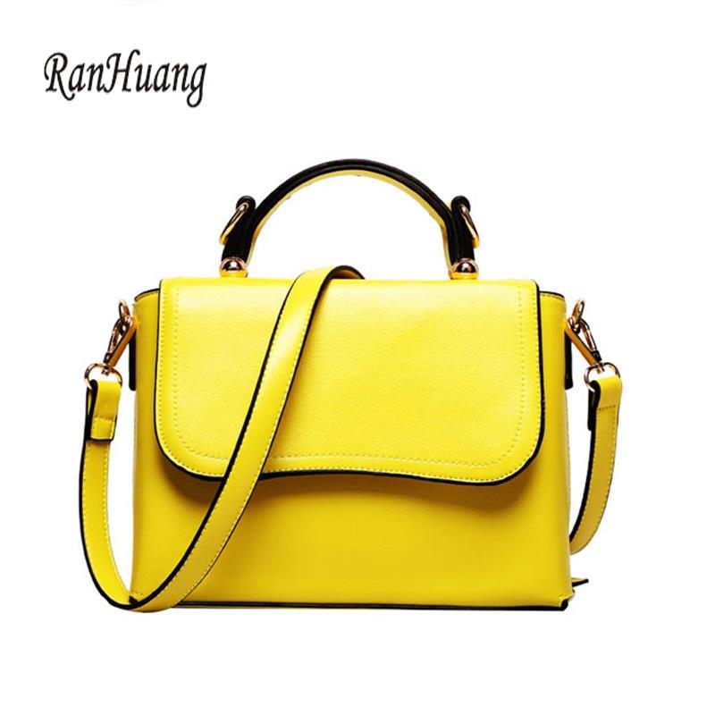 RanHuang Women Casual Handbags Pu Leather Shoulder Bags Ladies Fashion Messenger Bags Functional Bags Bolsas Feminina