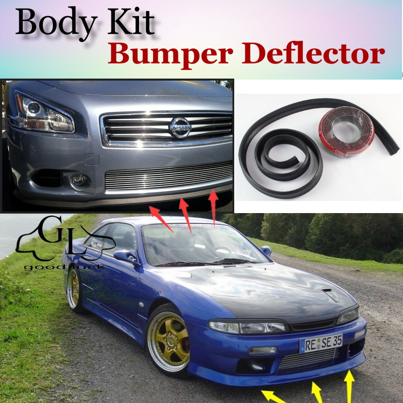 US $25 14 30% OFF|Bumper Lip Deflector Lips For Nissan Lucino / 200SX B14  Front Spoiler Skirt For TopGear Friends to Car Tuning / Body Kit / Strip-in