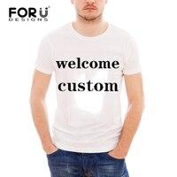 FORUDESIGNS Custom Printed Men's T Shirts Personalized T Shirt Summer man Tshirt Short sleeve Breathable Top Tees customization