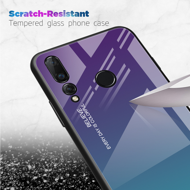 Tempered Glass phone case for capa Huawei Mate P30 10 20 Lite Pro Nova 3 3i 4 V30 P Smart Plus 2019 TPU phone back cover fundas