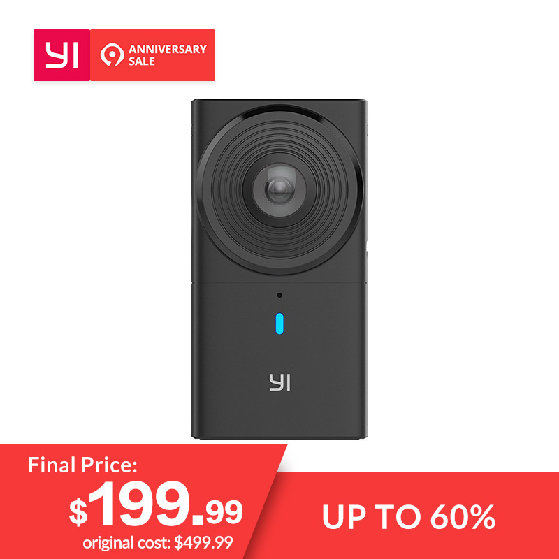YI 360 Camera VR Cam 220 degree Dual Lens 57K30fps Immersive Live stream Effortless Panoramic Camera Digital camera-in 360 Video Camera from Consumer Electronics on Aliexpresscom  Alibaba Group