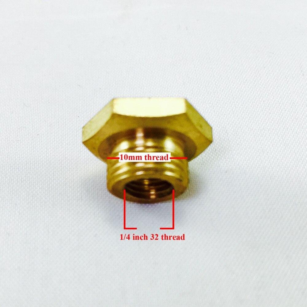RCEXL CM6 10mm zu 1/4-32 Zündkerze Buchse Adapter Kupfer Umwandlung
