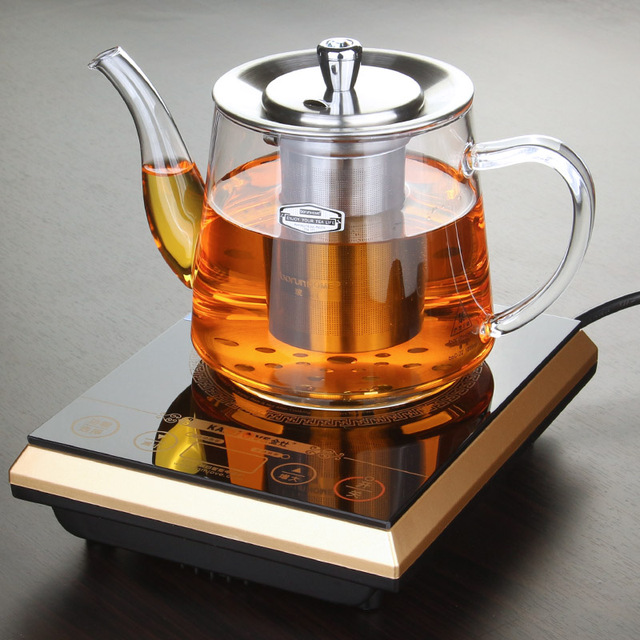 free shipping Induction cooker special pot boil tea dedicated cooker glass pot stainless steel liner kettle flower tea pot