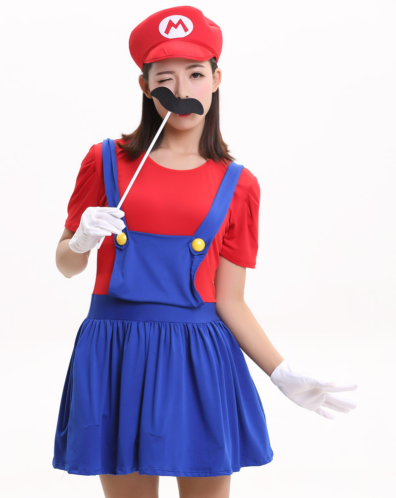 halloween costumes funny super mario luigi costume for family kids