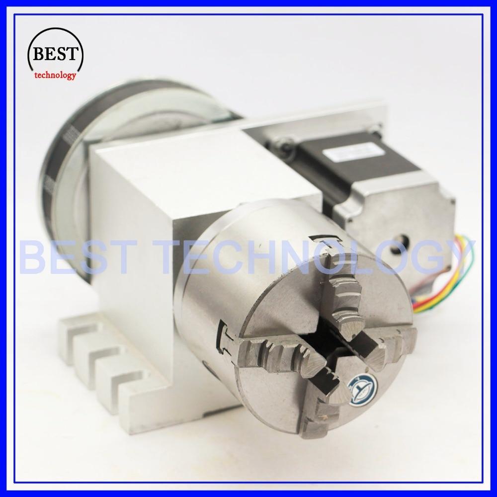 4 kiefer 80mm 4th Achse + Reitstock CNC teilapparat Rotation Achse/EINE achse kit für Mini CNC router/stecher holz arbeits gravur