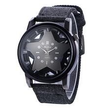 Женские часы Новый известный бренд McyKcy Повседневная Кварцевые часы Женщины пятиконечная звезда холст ремень наручные часы Relogios Feminino лидер продаж