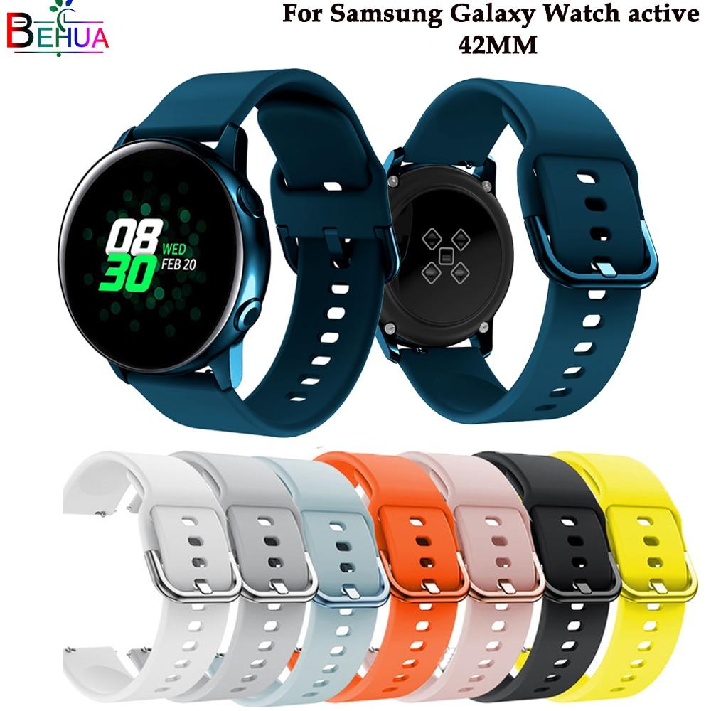 Correa de reloj deportiva Original de silicona para Galaxy watch correa de reloj inteligente activa para Samsung Galaxy 42mm correa de repuesto nueva