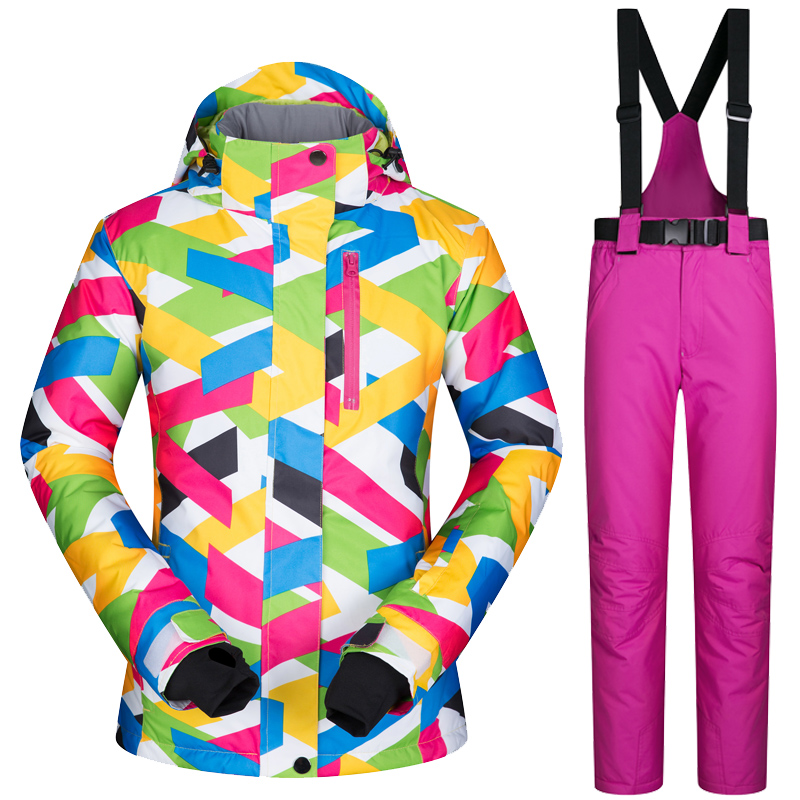 FREE SHIPPING 2018 New Ski Jacket Women High Quality Snow Jacket Thick Warm Waterproof and Windproof Ski Snowboard Jacket + PantFREE SHIPPING 2018 New Ski Jacket Women High Quality Snow Jacket Thick Warm Waterproof and Windproof Ski Snowboard Jacket + Pant