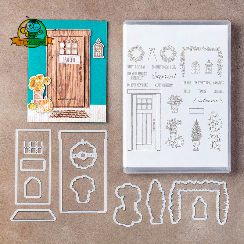 New Dies For 2019 Door Metal Cutting Dies And Stamps Sets DIY Scrapbooking Paper Card Making Stencil Paper Cards Decoration