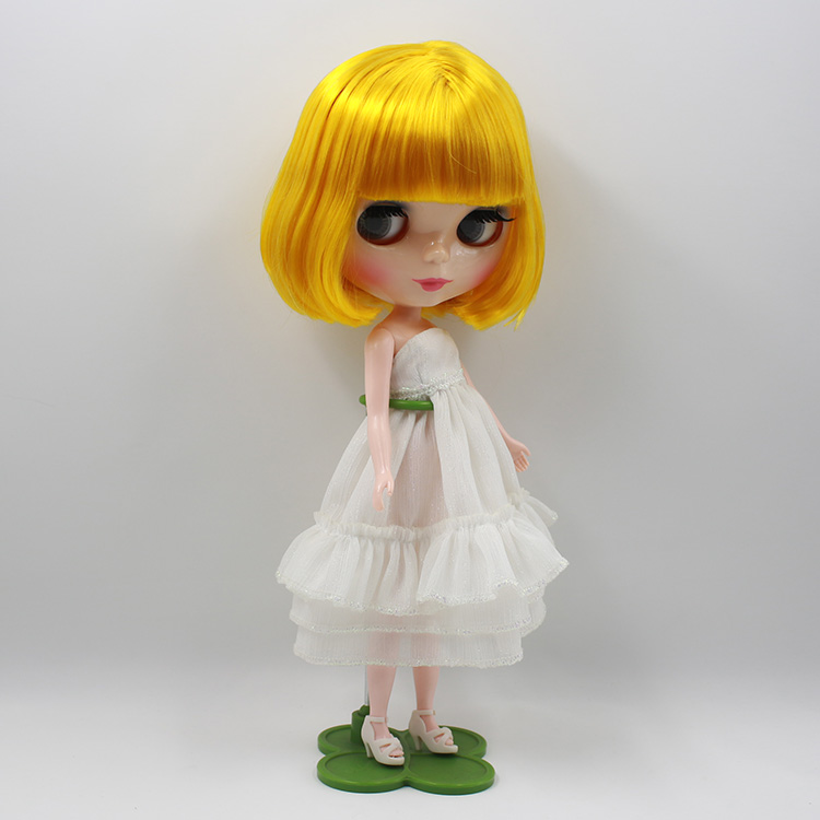 ФОТО Bonecos Nude blyth dolls for SALE Blonde bangs short hair toys baby dolls for girls gifts