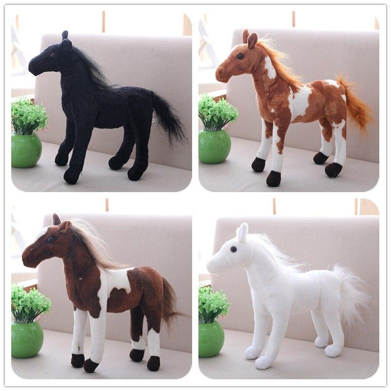 7Styles 1pc 30-40cm Simulation Horse Plush Toys Cute Staffed Animal Zebra Doll Soft Black& White Horse Toy Kids Birthday Gift ...