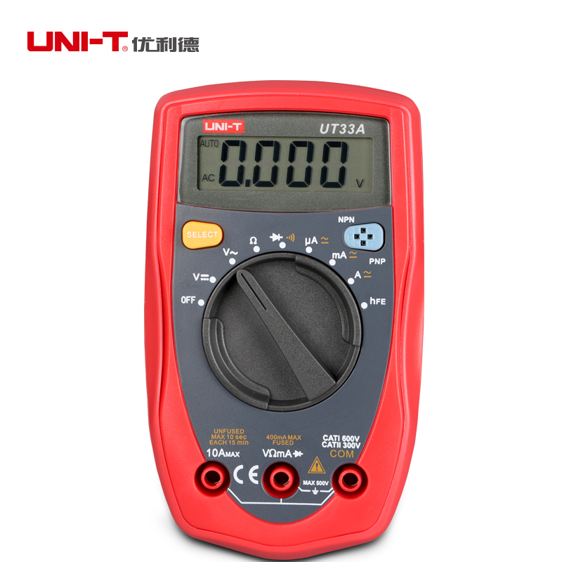 UNIT Digitial Multitesters of AC/DC Voltage Current Resistance Diode Tester Electrical Measurement Analysis Instruments Tools