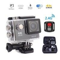 H9R WiFi Mini 4K Ultra HD Action Camera 2.4G Remote Control Underwater Sports Helmet Video Camcorder Micro DV Recording Cam Set