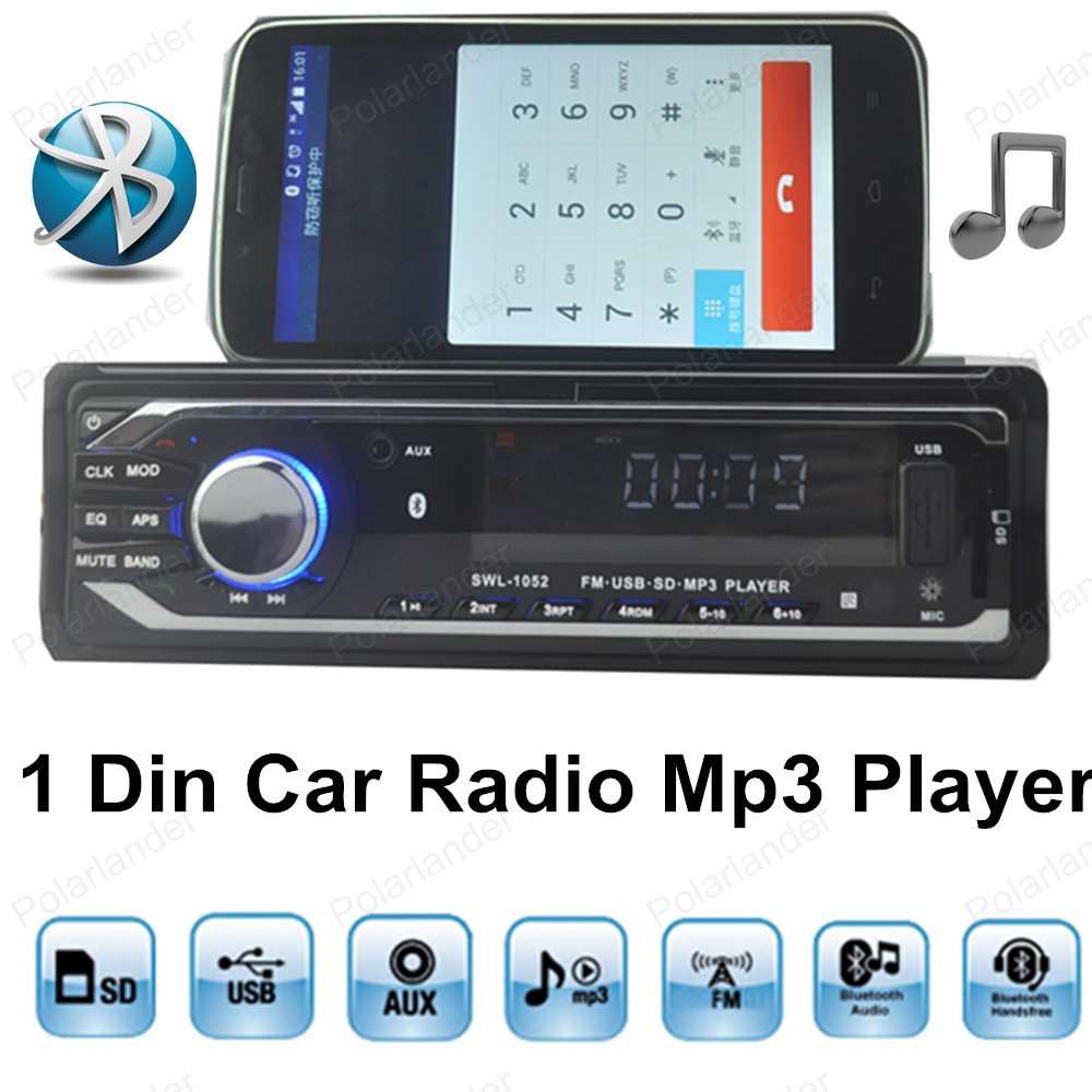 new single din size Car Radio Stereo Player Bluetooth AUX-IN MP3 FM/USB with remote control Car Audio Auto MP3 player in dash