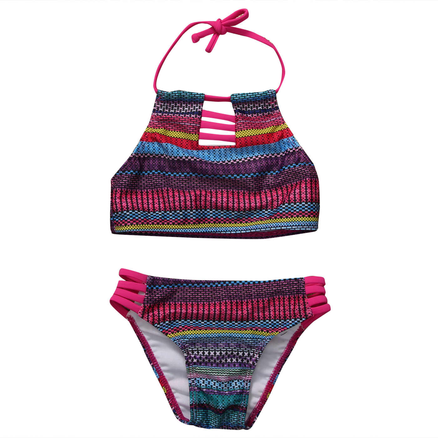 889398d9d0 2017 Baby Girls Summer Striped New Pretty Lovely Swimwear Kids Child  Swimsuit Bikini Set Swimsuit