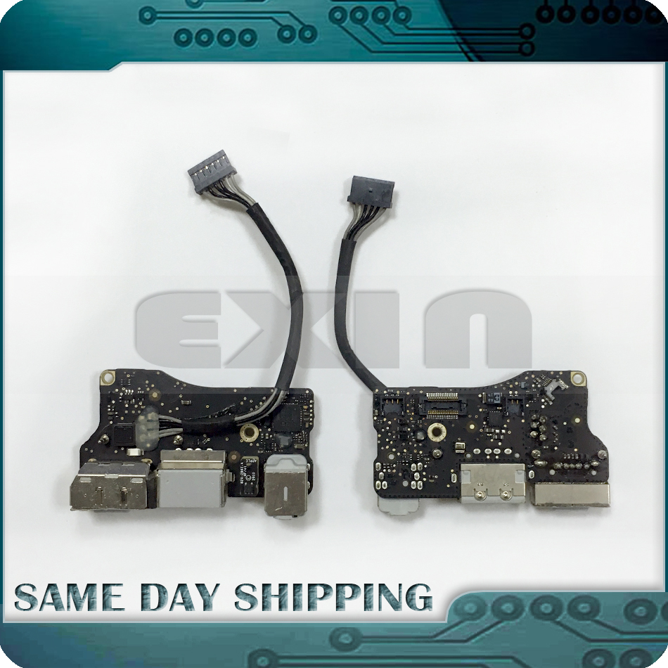 Original for MacBook Air 13.3 A1369 MagSafe DC I/O Power Board USB Port Audio Jack 2011 Year 820-3057-A 922-9963 MC965 MD508 for macbook air usb i o audio board 820 3213 a 11 laptop a1465 power dc jack md223 md224 2012