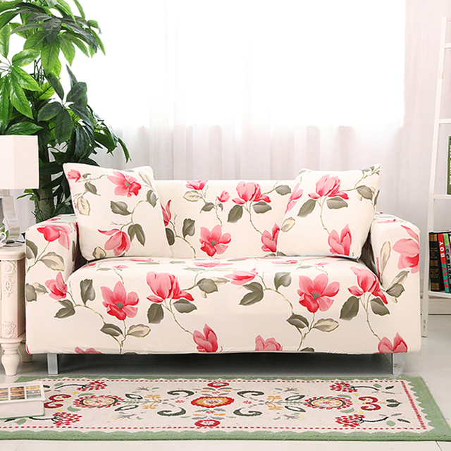 Anti Dirty Armchairs Sofa Protector Slipcover Flowers Pet Protection Soft Elastic Couch Seat Cover Decoration