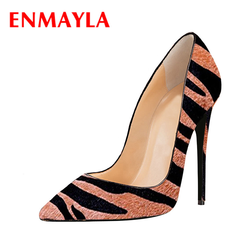ENMAYLA Women Fashion Leopard Pointed Toe High Heels Pumps Women's Stiletto Heels Party Shoes Ladies Wedding Shoes Woman new spring summer women pumps fashion pointed toe high heels shoes woman party wedding ladies shoes leopard pu leather