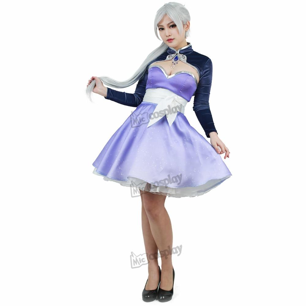 Weiss Schnee Cosplay Short Dress Costume