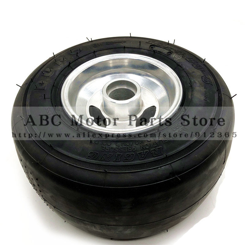 168 go kart 5 inch wheels beach car accessories drift wheel 10X4.5-5 kart tire + highway hub drift tire front 10spoke bk 24mm 2pcs