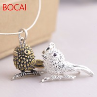 Deer King Jewelry Line S925 Silver Plated Minimalist Personality Exquisite Style Unique Female Bird Pendant