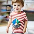 1-6 años de los niños del bebé del muchacho y de la muchacha camisetas marca de manga corta niños ropa de algodón perro de dibujos animados tshirt camiseta