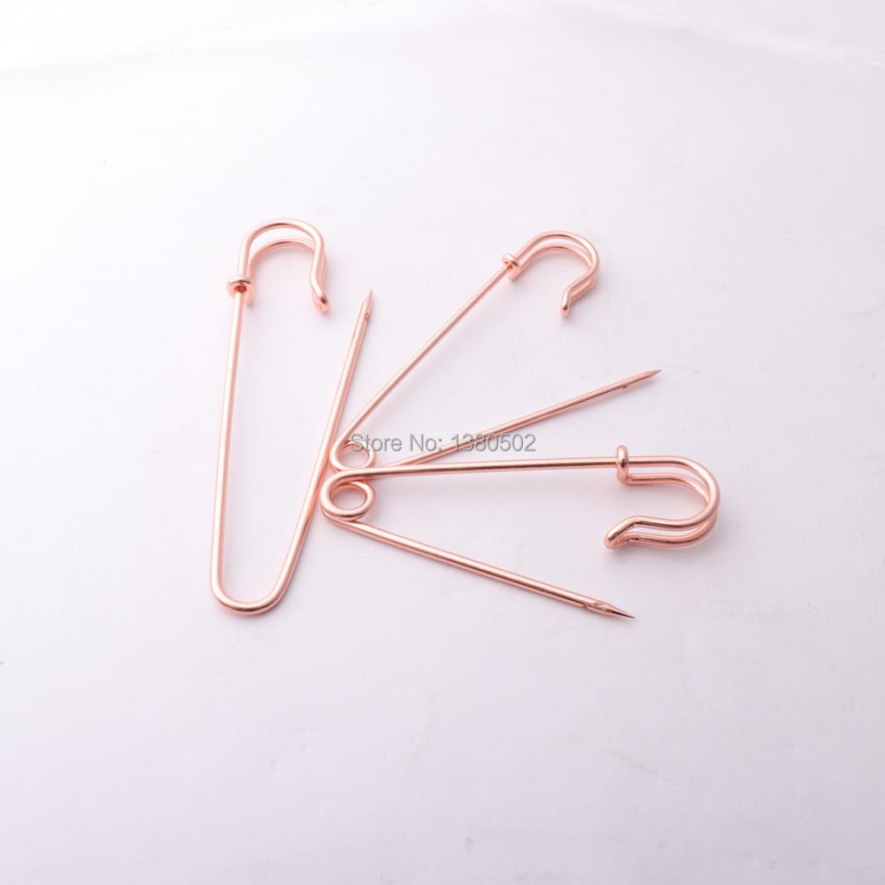 20pcs 63mm Rose gold Color beautiful Safety pins Garment Brooch for women in Pins Pincushions from Home Garden