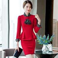IZICFLY Formal Business Spring Office Clothes For Women Work Suit Styles with Skirt Ladies Uniformes Secretaria Jacket Skirt Set
