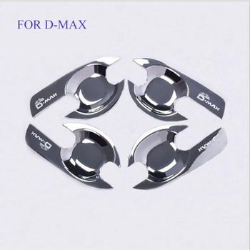 FREE SHIPING TIT FOR 2012-2016 ISUZU d-max ABS Door handle bowl CHROME cover for D-MAX accessory 2015 DMAX accessories image