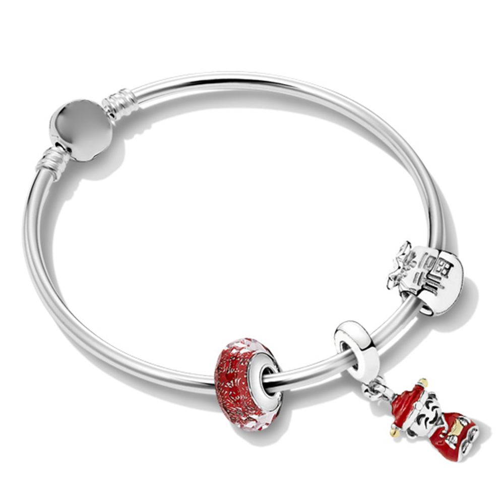 Kristie 100% 925 Sterling Silver 1:1 ZT0237 Chinese New Year Greet Good Luck String Ornaments Bracelet SetKristie 100% 925 Sterling Silver 1:1 ZT0237 Chinese New Year Greet Good Luck String Ornaments Bracelet Set