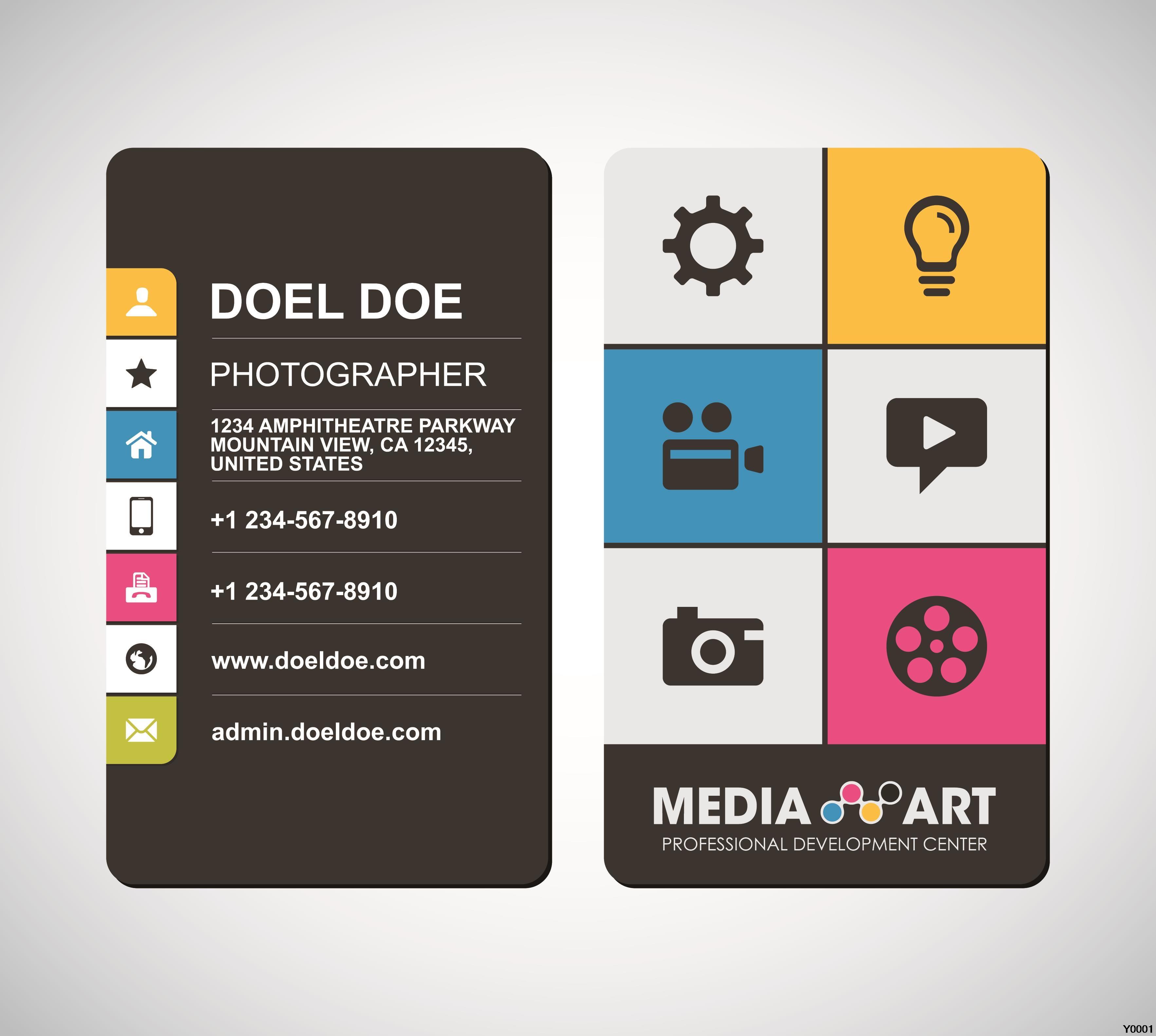 matte plastic business card template Y0003