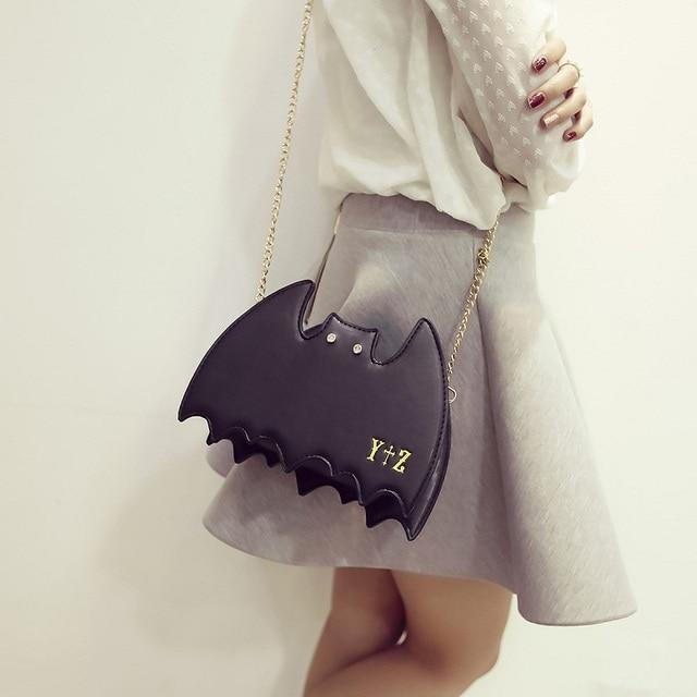 Japonais Harajuku Style Gothique Lolita Cosplay AP 3Way Chauve-Souris Sac Unique Épaule Bandoulière Sacs Femmes Cool Jour D'embrayage Mini Sacs À Main
