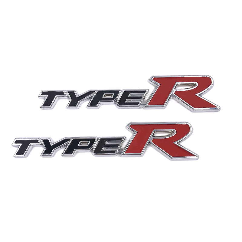 2017 Car Styling 3D TYPER TYPE R Racing Emblem Badge Logo Decal Sticker Stickers For HONDA KIA Acessories Mugen Auto Accessories In From