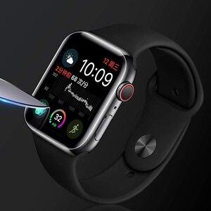 Image 4 - 2PCS 9D מלא מעוגל רך מזג זכוכית עבור Apple שעון 38 40 42 44 mm מסך מגן על אני שעון 4 5 מגן זכוכית סרט