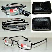 PU CASE BELT EASY QUALITY Foldable Noble Wear Anti Reflection Coated Reading Glasses 1 0 1