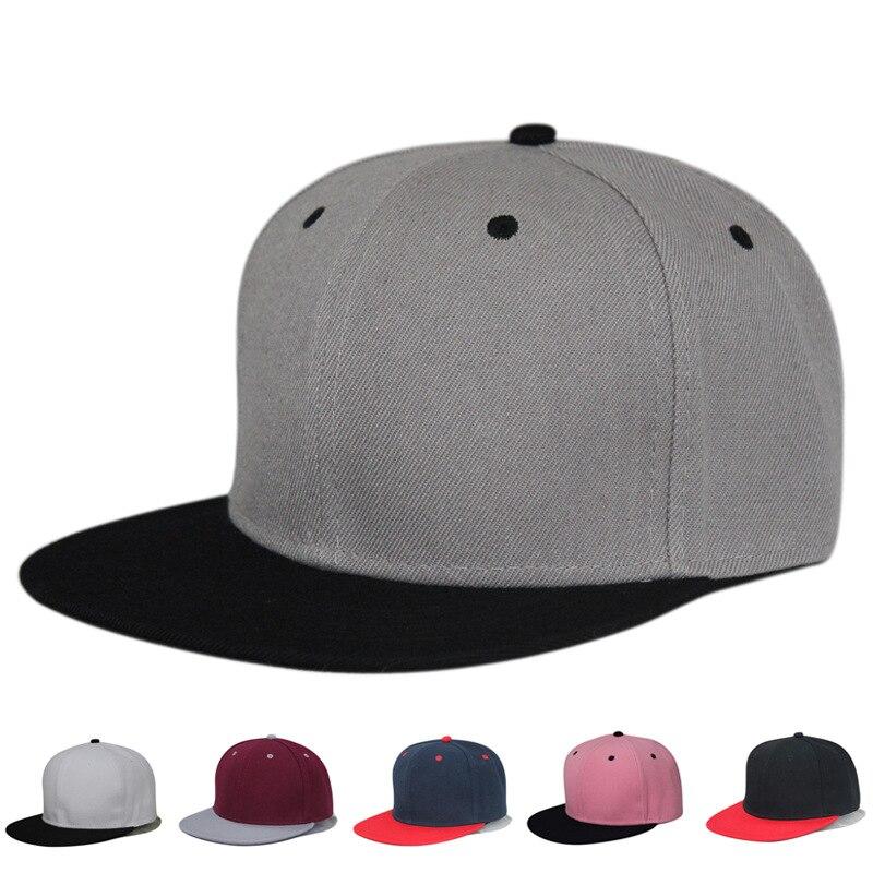 2c228bcd4f9e7 Plain Snapback Hats Embroidery or Print Your Own Logo Hi Po Style Flat Brim  Snapback Caps