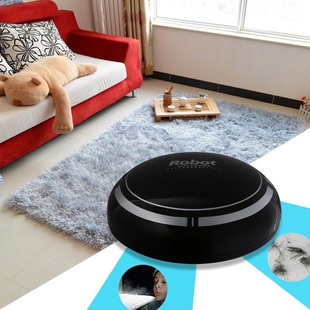 2019 Intelligent Robotic Vacuum Cleaner Automatic Dust Hair Mini Sweeping Machine Floor Dirt  Cleaning Dropshipping July11(China)