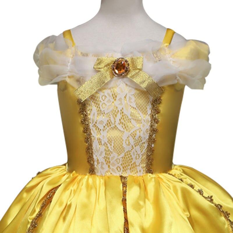 Schönheit und Das Biest Mädchen Kleid Prinzessin Bell kleider ...