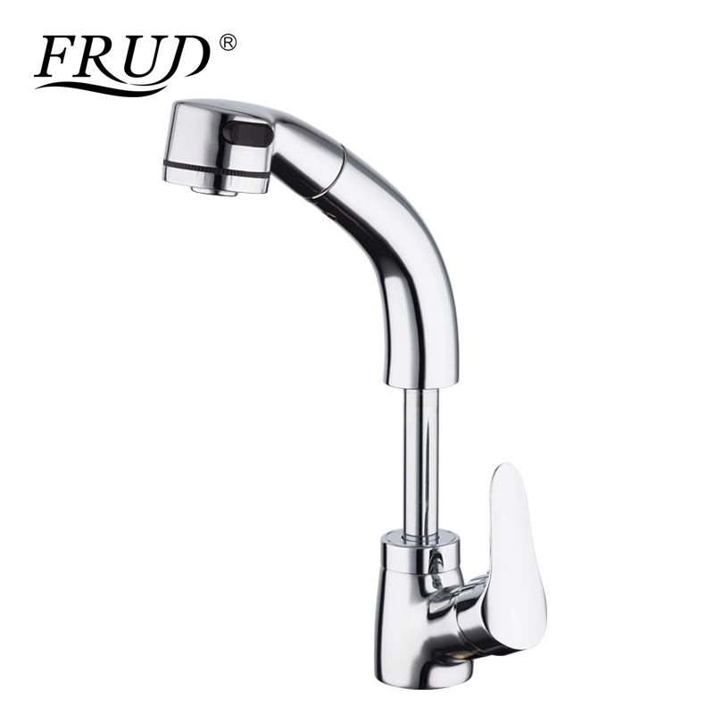FRUD High Quality Kitchen Faucet Pull Out Water Mixer Taps Brass ...
