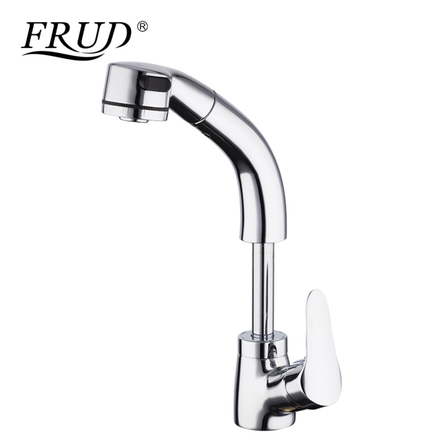 Frud High Quality Kitchen Faucet Pull Out Water Mixer Taps Brass