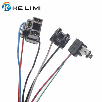 цена на KELIMI Halogen adapters H1 H4 H7 connector socket extension wire H1 plug lamp holder H4 socket H7 adaptor